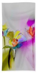 Hand Towel featuring the digital art Paper Flowers by Frank Bright