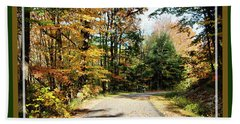 Paper Mill Trail, Framed Hand Towel