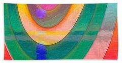 Parallel Dimensions - The Descent Bath Towel by Serge Averbukh