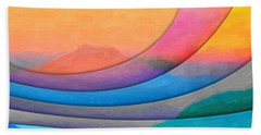 Parallel Dimensions - The Sacred Mountain Bath Towel by Serge Averbukh
