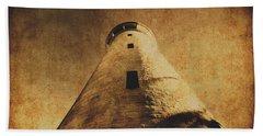 Parchment Paper Lighthouse Bath Towel