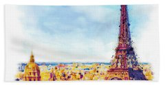 Paris Aerial View Hand Towel