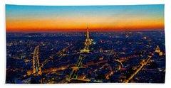 Paris After Sunset Hand Towel