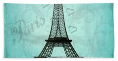 Paris Collage Hand Towel by Jim And Emily Bush