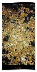 Paris From Space Hand Towel by Delphimages Photo Creations
