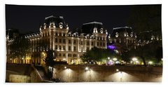 Bath Towel featuring the photograph Paris Police Headquarters by Andrew Fare