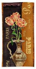 Paris Roses Bath Towel