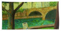 Bath Towel featuring the painting Paris Rubbish by Paul McKey