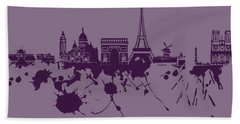 Paris Skyline.1 Bath Towel