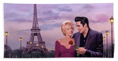 Paris Sunset Hand Towel by Chris Consani