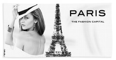Paris The Fashion Capital Bath Towel