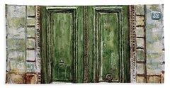 Parisian Door No. 32 Bath Towel by Joey Agbayani