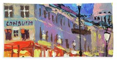 Parisian Street Bath Towel