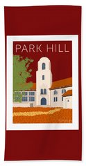 Park Hill Maroon Bath Towel