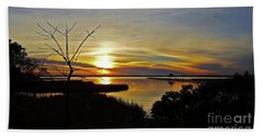 Bath Towel featuring the photograph Park Sunset 1 by Patti Whitten