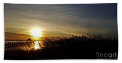 Bath Towel featuring the photograph Park Sunset 3 by Patti Whitten