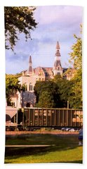 Hand Towel featuring the photograph Park University by Steve Karol