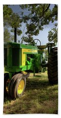 Parked John Deere 2 Bath Towel