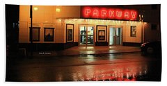 Parkway Night Hand Towel by Dale R Carlson
