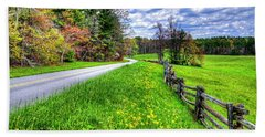 Parkway Spring Hand Towel by Dale R Carlson