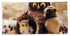 Parliament Of Owls Hand Towel by Martina Fagan