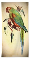 Parrot Hand Towel by Charmaine Zoe