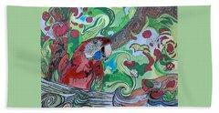 Parrot Kaleidoscope  Hand Towel