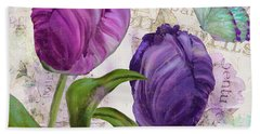 Parrot Tulips Bath Towel