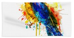 Parrot Watercolor  Bath Towel