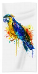 Parrot Watercolor  Hand Towel