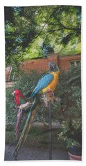 Parrots In The Garden Bath Towel