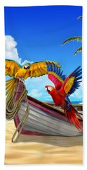 Parrots Of The Caribbean Bath Towel