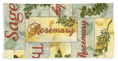 Parsley Collage Hand Towel