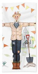 Parson Scarecrow Hand Towel by Sandra Moore