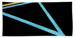 Bath Towel featuring the photograph Partallels And Triangles In Traffic Lines Scene by Gary Slawsky