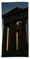 Parthenon At Sunset Hand Towel