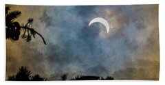 Bath Towel featuring the photograph Partial Eclipse 2017 by Bill Pevlor
