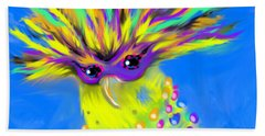 Bath Towel featuring the digital art Party Animal by Jean Pacheco Ravinski