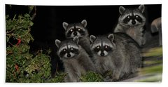 Party Of Five On The Roof Top Bath Towel by Nina Prommer