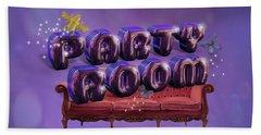 Party Room Bath Sheet by La Reve Design
