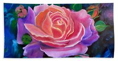 Gala Rose Hand Towel by Jenny Lee