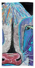 Hand Towel featuring the painting My Wild Side by Suzanne Theis