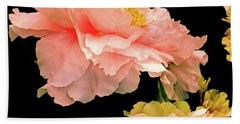 Pas De Deux Peonies With Yellow Hand Towel