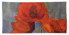 Pas De Poppies Bath Towel