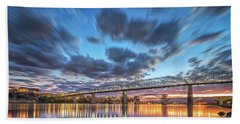 Passing Clouds Above Chattanooga Hand Towel