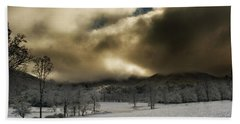 Passing Snow In North Carolina Bath Towel by Greg Mimbs