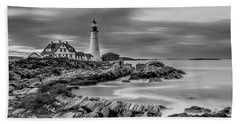 Passing Storm At Portland Head Light Bath Towel