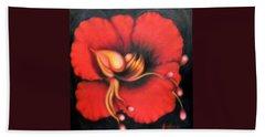 Passion Flower Bath Towel by Jordana Sands