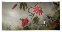 Passion Flowers And Hummingbird Hand Towel