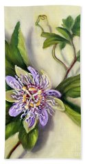 Bath Towel featuring the painting Passion Vine Flower by Randol Burns